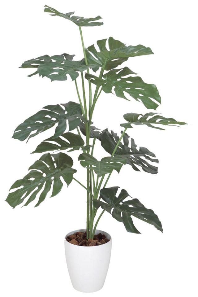 光触媒 光の楽園 モンステラ 高さ 1.2m 【インテリアグリーン 人工観葉植物】 (369g200)