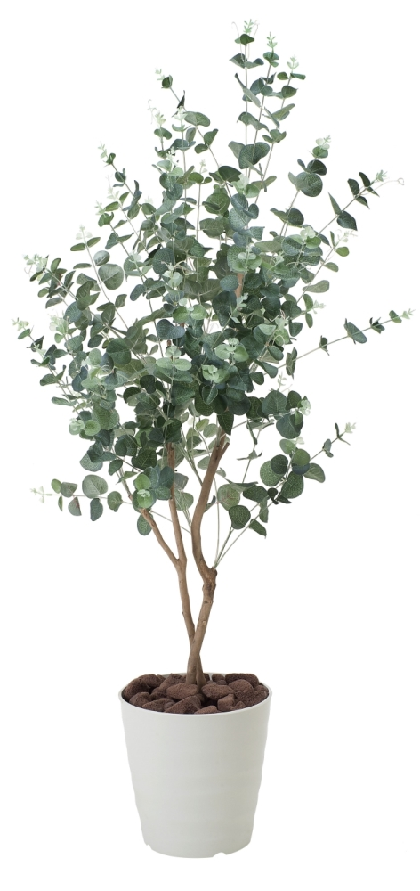 光触媒 光の楽園ユーカリ1.25m【インテリアグリーン 人工観葉植物】(370a180)
