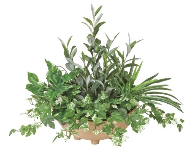 光触媒 光の楽園寄せ植えオリーブ【インテリアグリーン 人工観葉植物】(383a100)