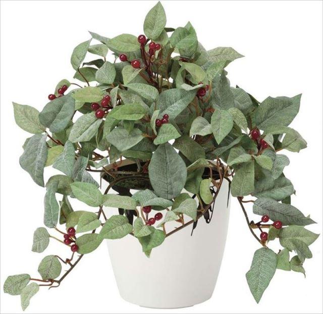 光触媒 光の楽園 ローレル (フロック加工) 【インテリアグリーン 人工観葉植物】 (388g40)