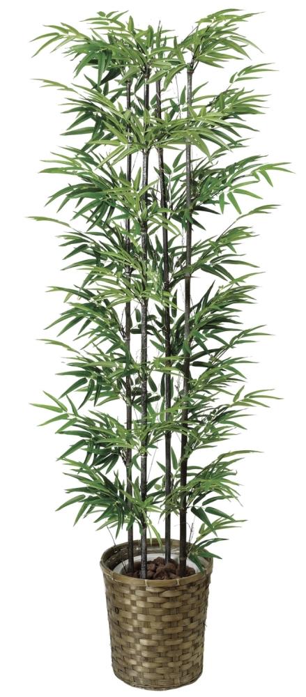光触媒 光の楽園黒竹 高さ 1.6m【インテリアグリーン 大型 人工観葉植物】(404a300)