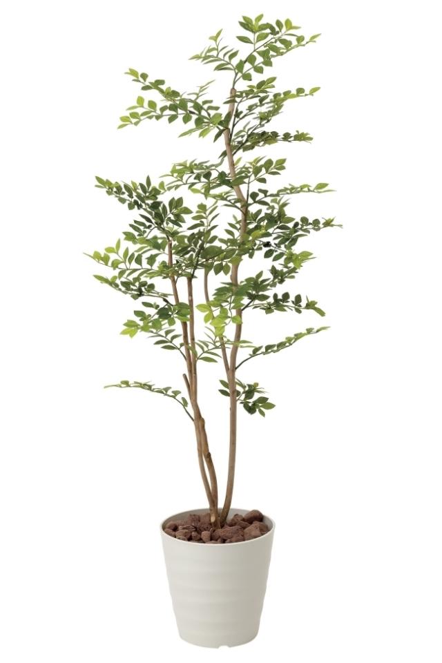 光触媒 光の楽園ゴールデンリーフ1.25m【インテリアグリーン 人工観葉植物】(423a180)