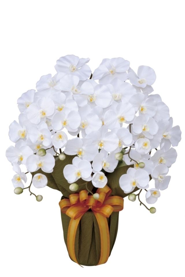 光触媒 光の楽園エレガント胡蝶蘭W【アートフラワー 造花 】(452a80)