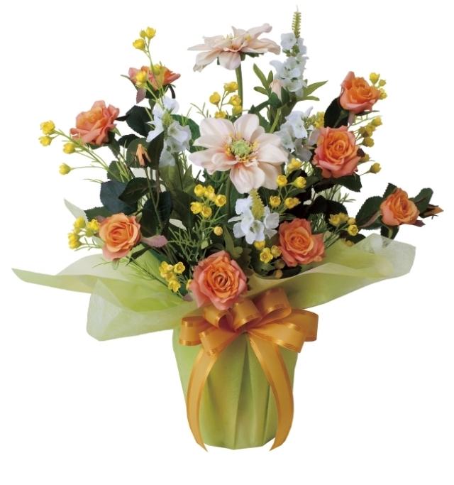 光触媒 光の楽園サンセットローズ【アートフラワー 造花 】(468a60)