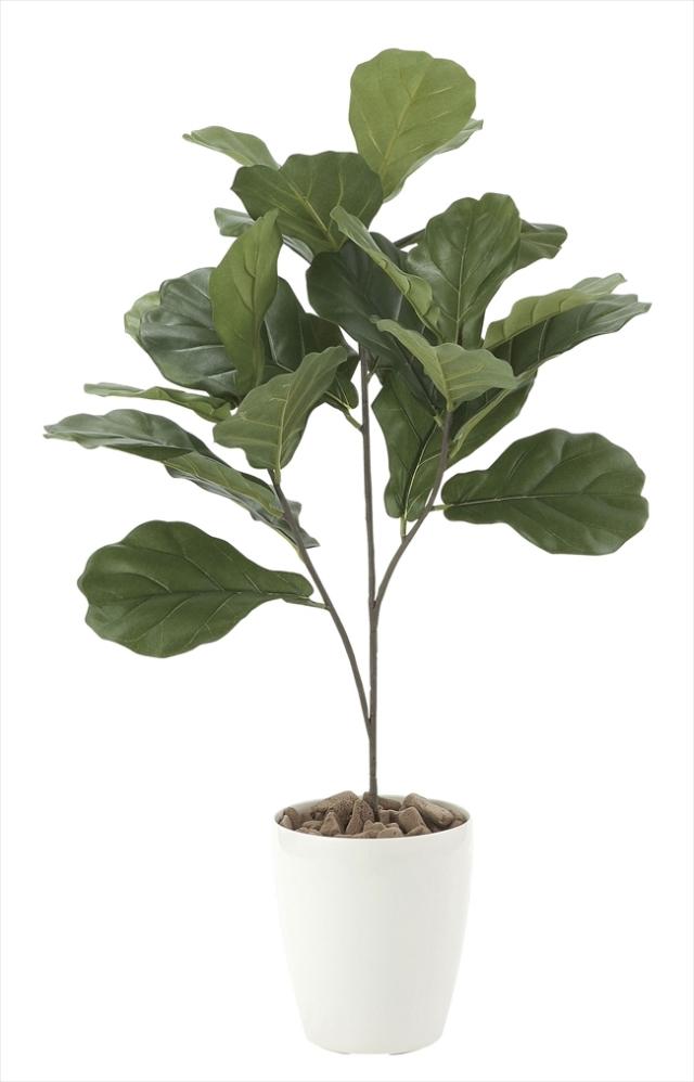 光触媒 光の楽園カシワバゴム90【インテリアグリーン 人工観葉植物】(610a80)
