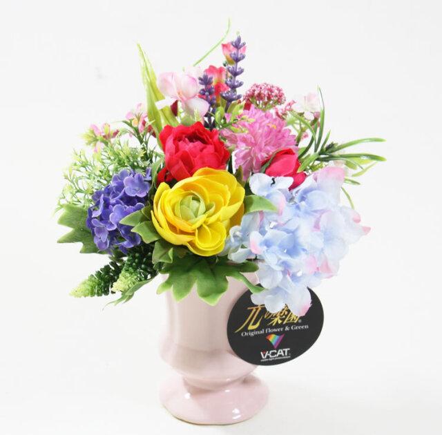 光触媒 光の楽園ビタミンローズ【アートフラワー 造花 】(618iy-1901)