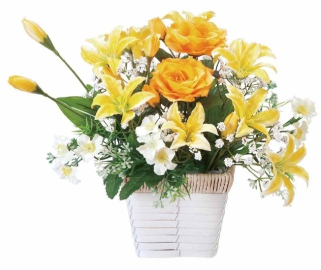 光触媒 光の楽園アレンジフラワー【アートフラワー 造花 】(67a30)