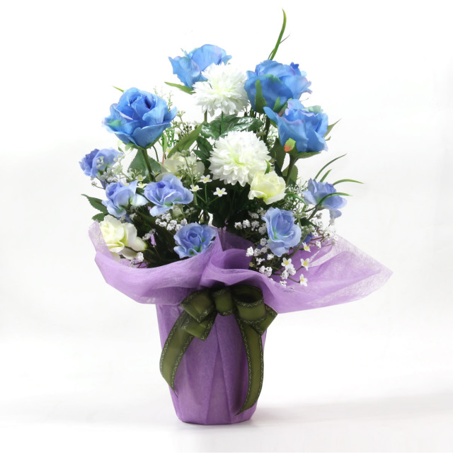 光触媒 光の楽園アクアローズ【アートフラワー 造花 】(721os-001)