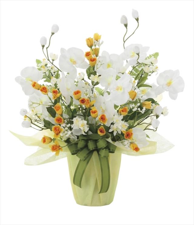 光触媒 光の楽園メローホワイト【アートフラワー 造花 】(757a50)