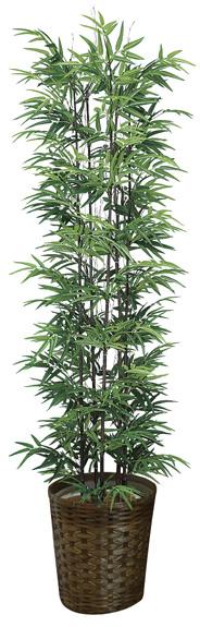光触媒 光の楽園黒竹 高さ 1.8m【インテリアグリーン 大型 人工観葉植物】(775a450)