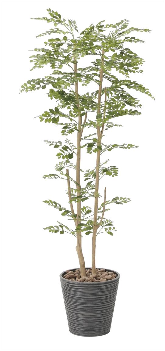光触媒 光の楽園ゴールデンツリー 高さ 1.6m【インテリアグリーン 大型 人工観葉植物】(811a350)