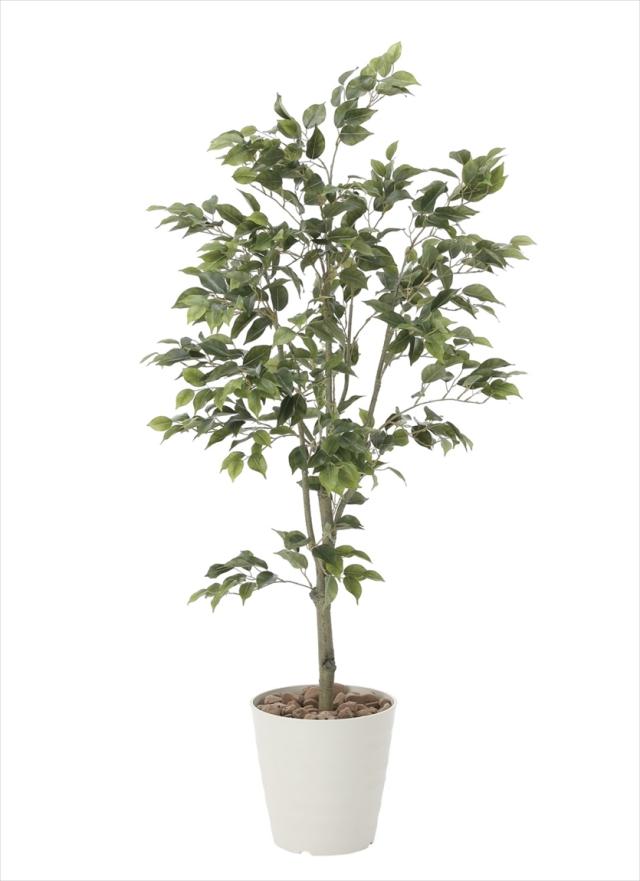 光触媒 光の楽園フィカスツリー 高さ 1.5m【インテリアグリーン 大型 人工観葉植物】(823a300)
