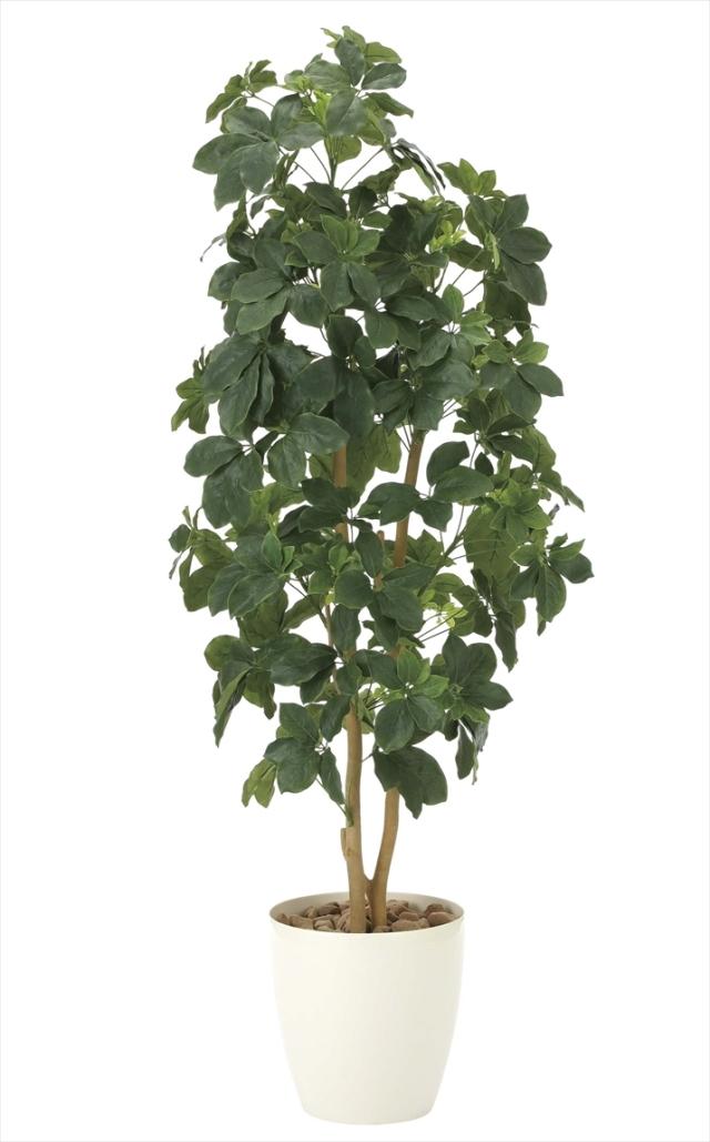 光触媒 光の楽園シェフレラ 高さ 1.6m【インテリアグリーン 大型 人工観葉植物】(905a340)