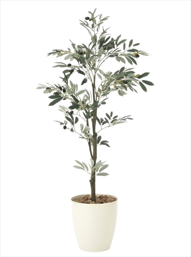 光触媒 光の楽園オリーブ1.3m【インテリアグリーン 人工観葉植物】(909a200)