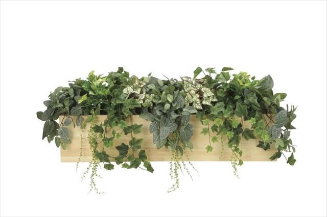 光触媒 光の楽園ウッドボックスL【インテリアグリーン 人工観葉植物】(※ラッピング不可)(939a350)