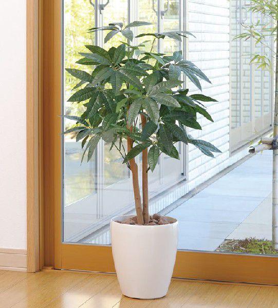 光触媒 光の楽園パキラ 90【インテリアグリーン 人工観葉植物】(acn089)