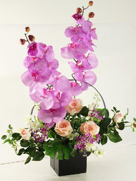 光触媒 光の楽園満月【アートフラワー 造花 】(acn121)