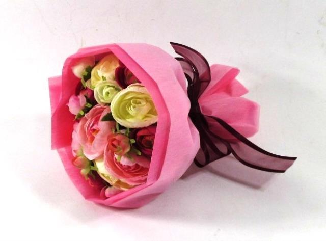 光触媒 光の楽園ラナンキュラスローズ ピンク【アートフラワー 造花 】(acn153)