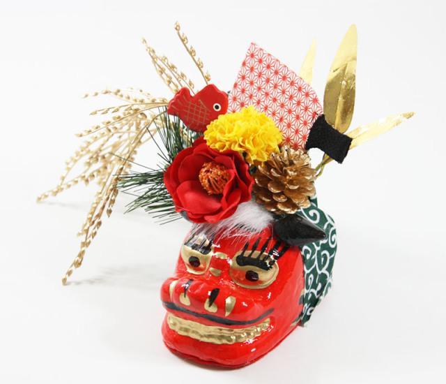 光触媒 光の楽園 獅子舞(ししまい)【アートフラワー 造花 】(acn173)