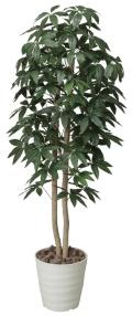 光触媒 光の楽園パキラツリー 高さ 1.6m【インテリアグリーン 大型 人工観葉植物】(170a300)