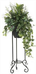 光触媒 光の楽園 グリーンスタンドアイビー 高さ 1.1m 【インテリアグリーン 人工観葉植物】 (2003a350)