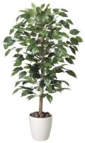 光触媒 光の楽園ベンジャミン 1.0m【インテリアグリーン 人工観葉植物】(200a150)