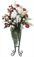 光触媒 光の楽園 ビューティローズスタンド 【アートフラワー 造花 】 (2047a500)
