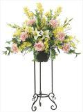 光触媒 光の楽園 フレッシュローズスタンド 【アートフラワー 造花 】 (2048a450)
