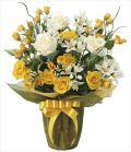 光触媒 光の楽園 パナマローズ 【アートフラワー 造花 】 (2055a80)