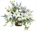 光触媒 光の楽園 壁掛けカサブランカ 【アートフラワー 造花 】 (2080a150)
