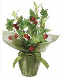 光触媒 光の楽園 サクランボ 【インテリアグリーン 人工観葉植物】 (2098a40)