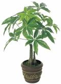 光触媒 光の楽園パキラポット【インテリアグリーン 人工観葉植物】(252e40)