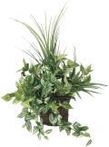 光触媒 光の楽園壁掛ナチュラルグラス【インテリアグリーン 人工観葉植物】(281a70)