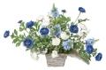 光触媒 光の楽園ワイドブルー【アートフラワー 造花 】(329a50)