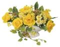 光触媒 光の楽園マーメイドローズ【アートフラワー 造花 】(ラッピング不可)(340a30)