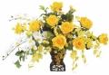 光触媒 光の楽園ツインゴールド【アートフラワー 造花 】(42a80)