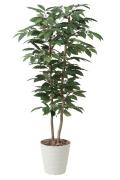 光触媒 光の楽園コーヒー1.6m【インテリアグリーン 人工観葉植物】(430a350)