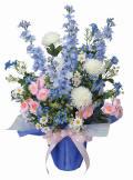 光触媒 光の楽園パナマブルー【アートフラワー 造花 】(44a70)