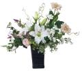 光触媒 光の楽園ツインカサブランカ【アートフラワー 造花 】(460a120)
