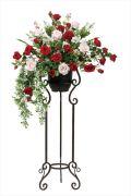 光触媒 光の楽園スカーレットローズスタンド【アートフラワー 造花 】(533a450)