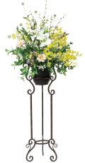 光触媒 光の楽園スタンドカサブランカ【アートフラワー 造花 】(534a400)