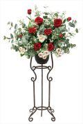 光触媒 光の楽園スカーレットスタンドM【アートフラワー 造花 】(535a250)