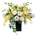 光触媒 光の楽園ツインソフトローズ【アートフラワー 造花 】(538a120)