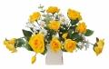光触媒 光の楽園ミルフィーローズ【アートフラワー 造花 】(ラッピング不可)(65a30)