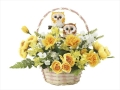 光触媒 光の楽園ペアフクロウ【アートフラワー 造花 】(709a40)