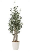 光触媒 光の楽園オリーブ 高さ 1.6m【インテリアグリーン 大型 人工観葉植物】(731a330)