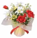 光触媒 光の楽園アレンジフラワー【アートフラワー 造花 】(79a20)