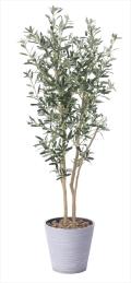 <2018新作>光触媒 光の楽園オリーブ1.6m【インテリアグリーン 人工観葉植物】(814a330)
