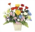 光触媒 光の楽園開運8色フラワーS【アートフラワー 造花 】(920a38)