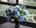 光触媒 光の楽園ブルースターローズ【アートフラワー 造花 】(acn053)